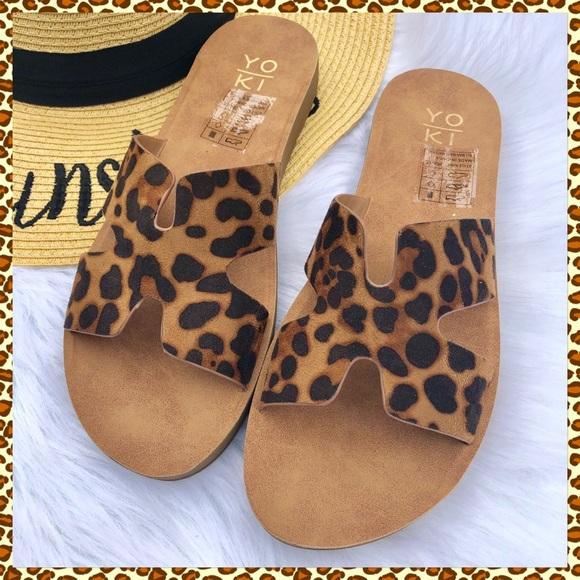 Yoki Shoes | Sandals Leopard Print
